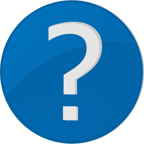 Grafik: Blauer Kreis mit weißem Fragezeichen